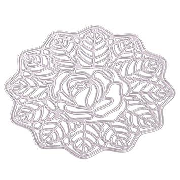 KIMODO Plantilla para manualidades, decoración de tartas, galletas, flores, rociado, troquelado,Cortar Plantillas Troquelación Kit,para boda tarjeta de ...