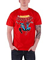 Officially Licensed Merchandise Marvel Comics The Amazing Spiderman T-Shirt (Red)