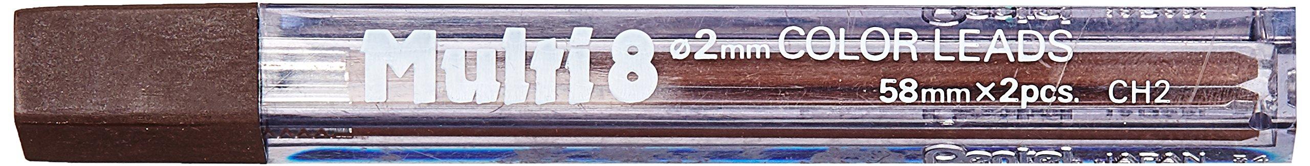 Pentel 2 Minas (1 Tubo) 2mm  Marron