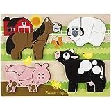 Melissa & Doug Farm Animals Wooden Chunky Jigsaw Puzzle (20 pcs)