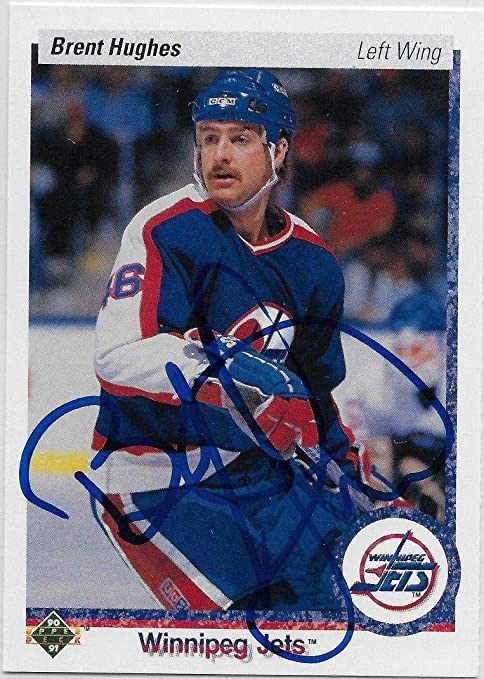 best authentic 54675 c4954 Brent Hughes Signed 1990-91 Card #333 Winnipeg Jets - Upper ...