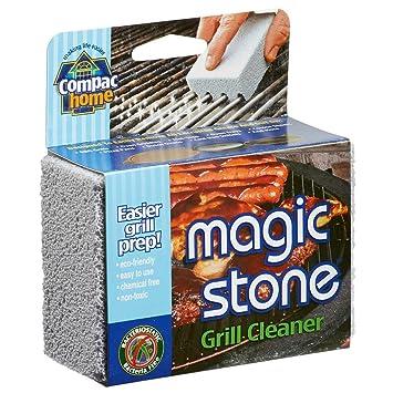 Compac de magic-stone Grill limpiador estropajo, estropajos cepillo de barbacoa de ladrillos/