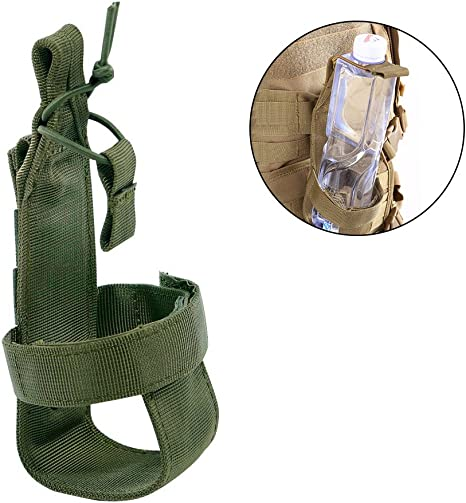 UK Nylon Tactical Molle Water Bottle Cup Bag Carrier Bag Holder Pouch Military