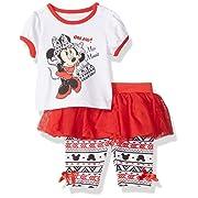 Disney Baby-Girls Newborn Minnie Mouse 2 Piece Skegging Set, Chinese Red, 6-9 Months