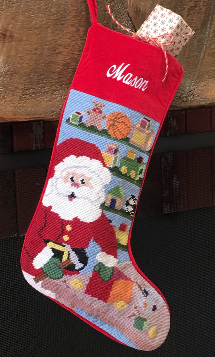Personalized Red Velvet Christmas Stockings