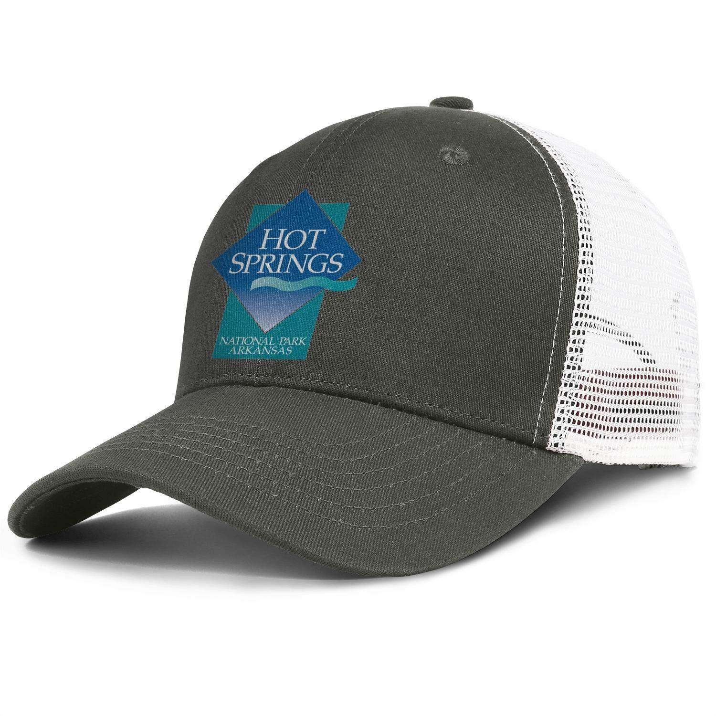 Mens Womens Hot-Springs-National-Park Cap Designed Workout Caps Hat