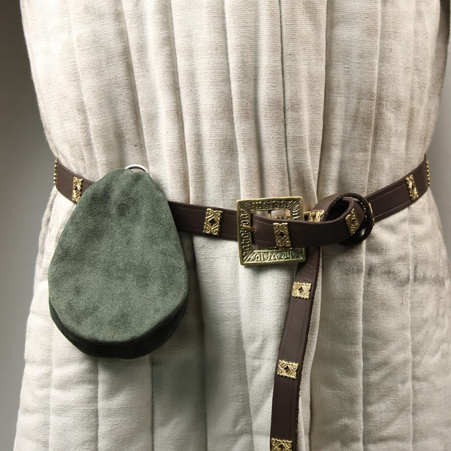 Deluxe Adult Costumes - Peasant's green suede coin pouch by Armory Replicas