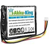 Akku-King 20104340 iones de litio 1250mAh 3.7V batería recargable - Batería/Pila recargable (iones de litio, 1250 mAh, Navegador/computadora móvil de mano/ teléfono móvil, 3,7 V, 4,63 Wh, Negro, Color blanco)