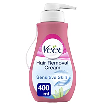Veet Hair Removal Cream Sensitive Skin with Aloe Vera & Vitamin E (400ml)