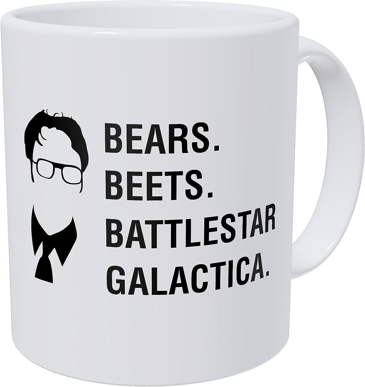 Wampumtuk Bears Beets Battlestar Galactica Jim, Dwight Schrute The Office 11 Ounces Funny Coffee Mug