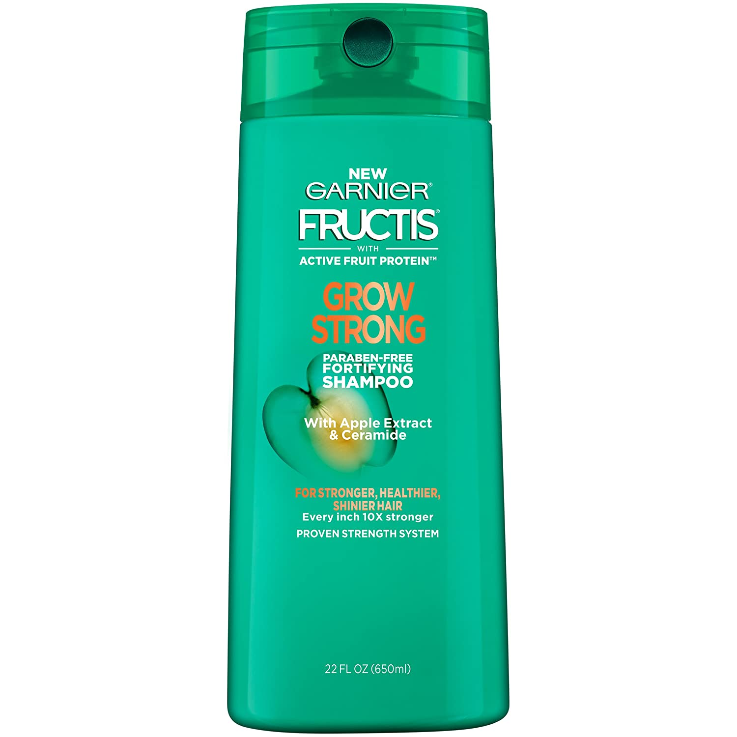 Garnier Fructis Grow Strong Shampoo, For Stronger, Healthier, Shinier Hair, 22 fl. oz.