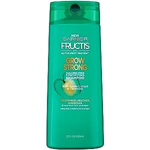 Garnier Fructis Grow Strong Shampoo, For Stronger, Healthier, Shinier Hair, 22 fl. oz.