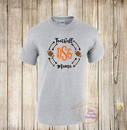 94d127b6 Amazon.com: Football Mom/ Mom Monogram/ Football Monogram/ Football Shirt/  Mom Shirt/ Team/ Football Team/ Sports/ Sport shirt/ Mama/ Mom: Handmade