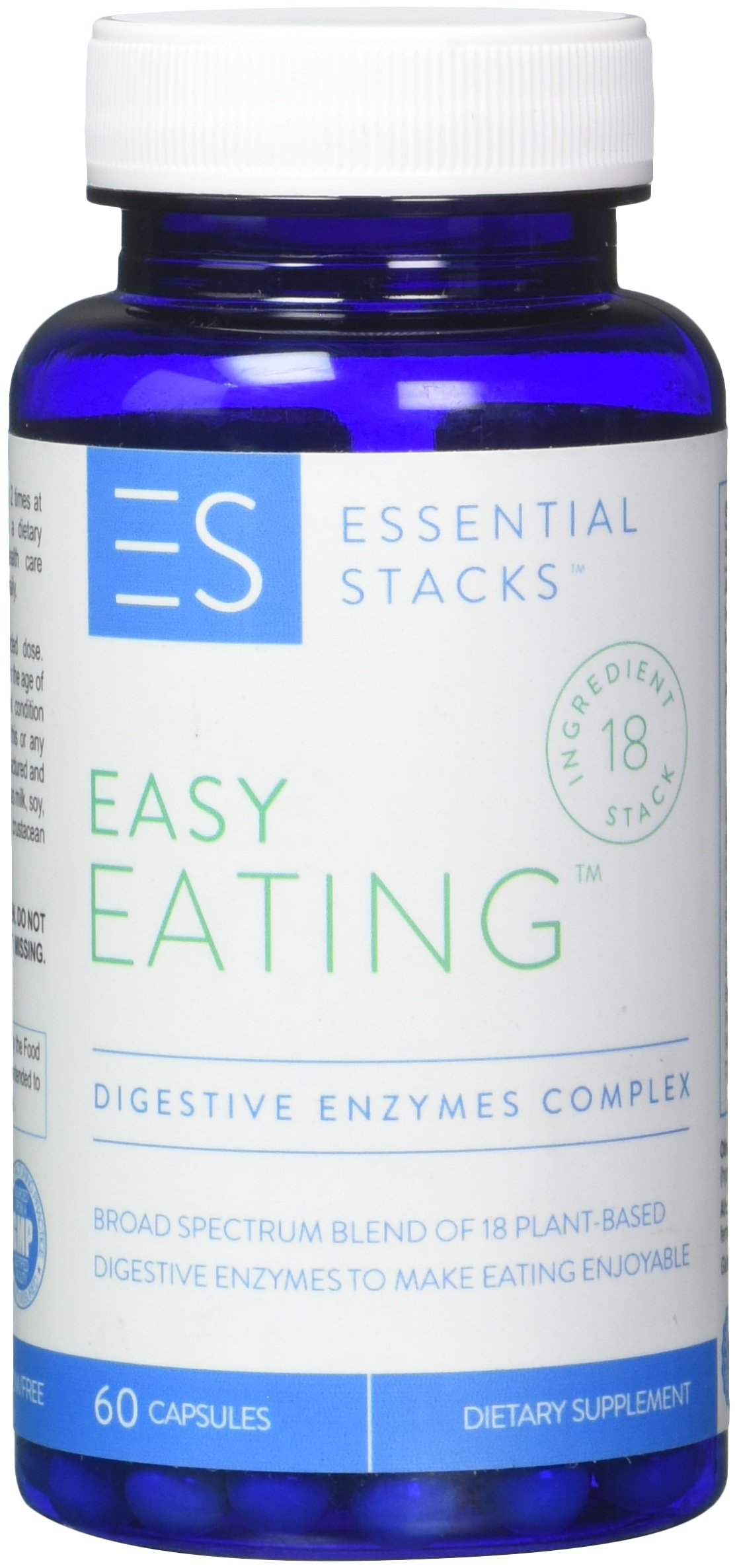 18 Digestive Enzymes In 1 - Gluten Free, Plant Based & Broad Spectrum - Smartly Formulated So You Can Digest ALL Food Groups.