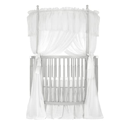 Dream On Me Sophia Posh Circular Crib, Silver Pearl