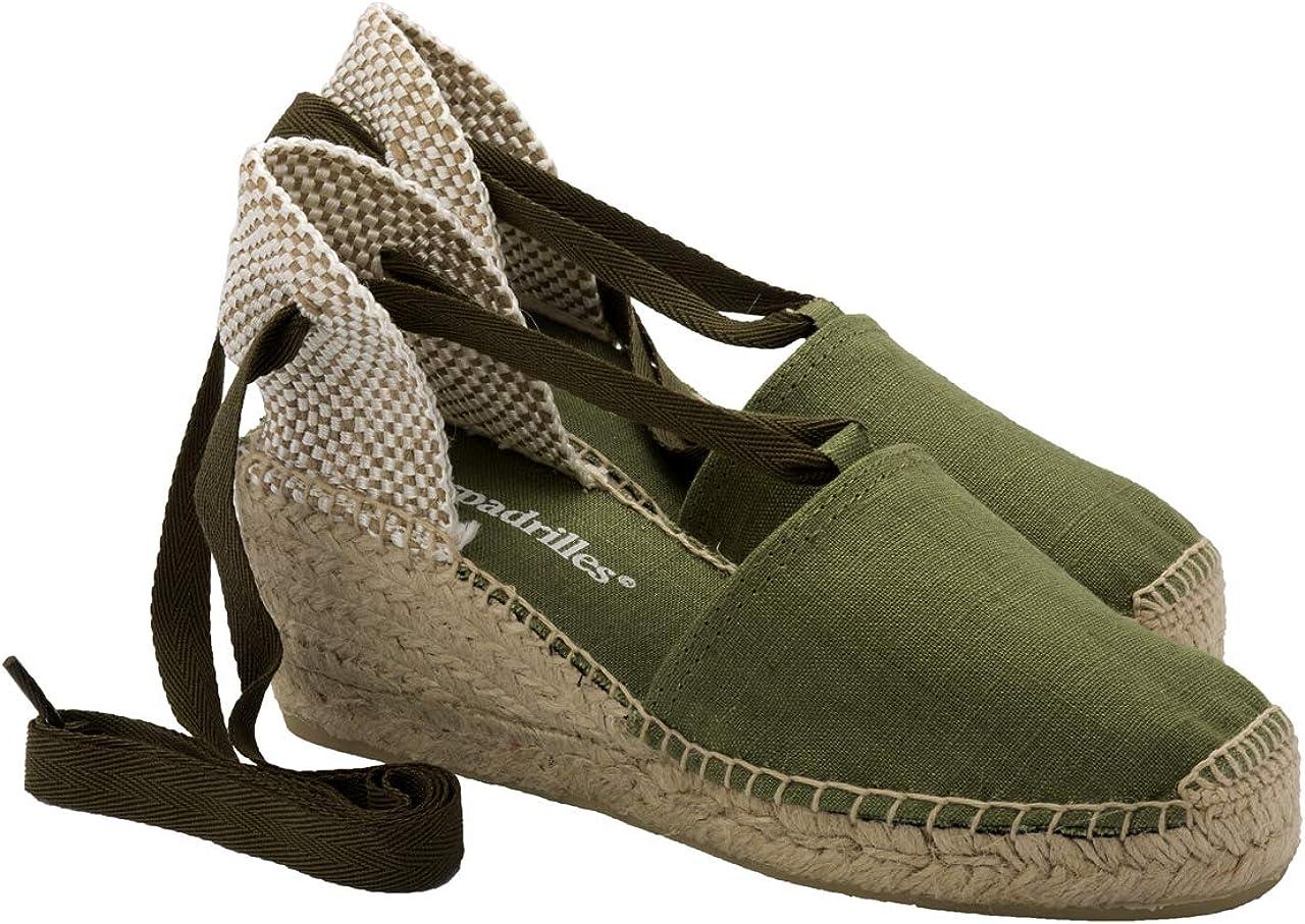 2 Espadrilles - Alpargatas Sandalias Mujer Fabricadas a Mano en España Espadrilles Esparto Zapato para Mujer Tacón Beatriz: Amazon.es: Zapatos y complementos