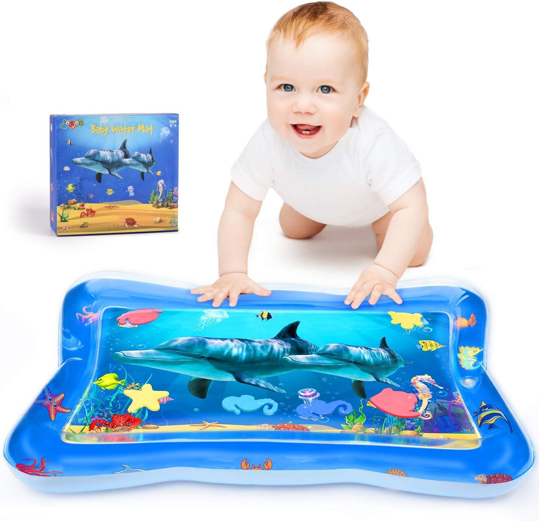 Joyjoz Alfombra de Agua para Bebé Alfombra Inflable Alfombra de Juegos para Bebé Juguete Sensorial Manta de Juegos Gimnasio para Bebés Colchoneta de Suelo para Niños y Recién Nacidos 3 Meses