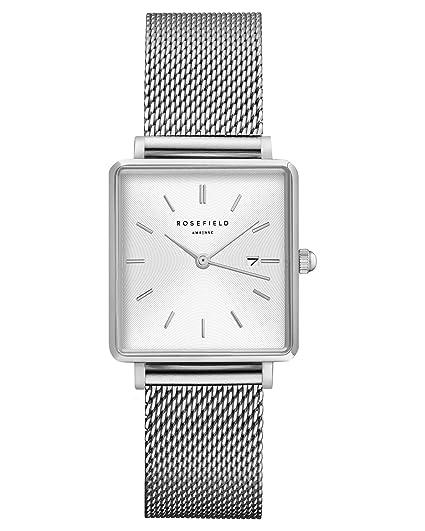 Rosefield Reloj Analógico para Mujer de Cuarzo con Correa en Acero Inoxidable QWSS-Q02: Amazon.es: Relojes