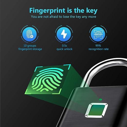 Alinory Smart T/ürschloss Bronze Smart Biometric Fingerprint Fenstergriff Kinder Anti-Falling Sicherheitsschloss