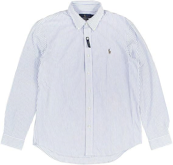 31a74b2c169edb Ralph Lauren Men's Striped Long Sleeve Button Down Shirt at Amazon Men's  Clothing store: