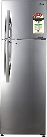 LG 335 L 4 Star Frost Free Double Door Refrigerator(GL-R372JPZN, Shiny Steel, Inverter�