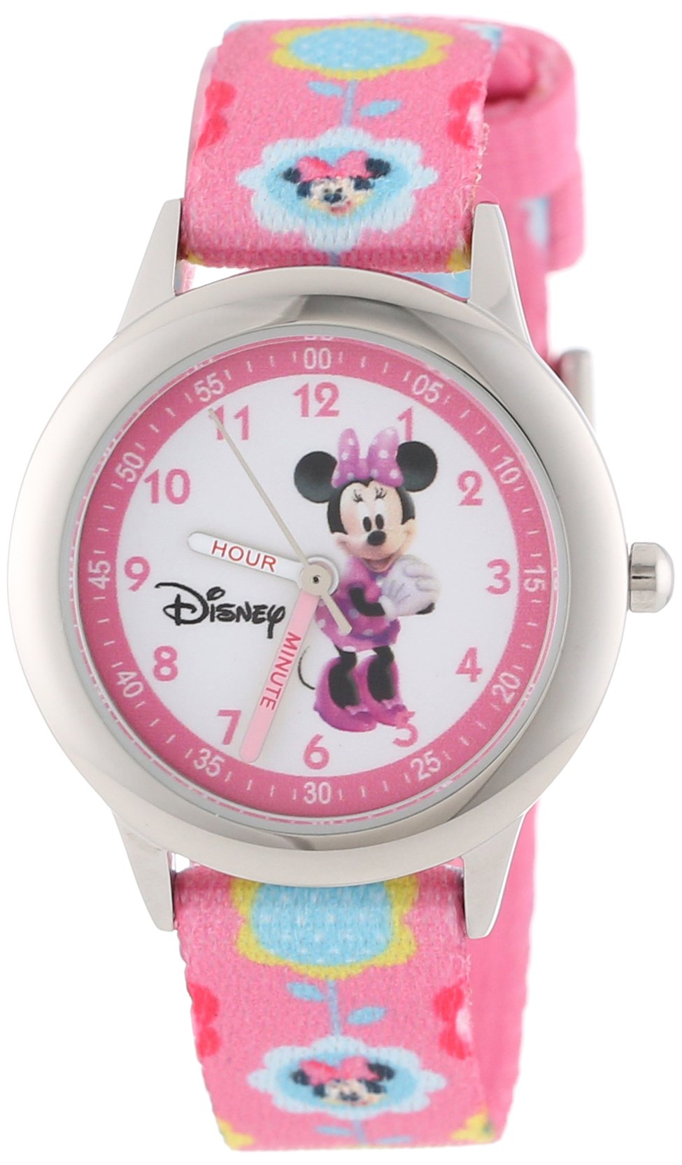 Disney Kids' W000036 Minnie Mouse Time Teacher Stainless Steel Watch by Disney