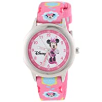Kids' W000036 Minnie Mouse Time Teacher Stainless Steel Watch