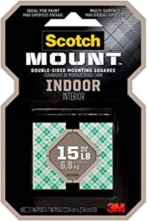 product image for Scotch-Mount Indoor Double-Sided Mounting Squares 111H-SQ-48, 1 in x 1 in 48/pk