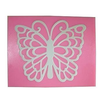 Impresión en relieve con mariposa filigrana Molde de silicona para la torta de Decoración Pastel de Cupcake Toppers Glaseado Sugarcraft Tool por Fairie ...