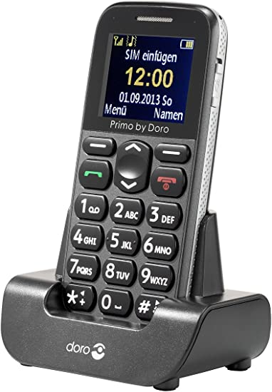 Doro Primo 215 - Teléfono móvil (4,32 cm (1.7), 160 x 128 Pixeles, TFT, Single SIM, gsm, 900, 1800, 1900 MHz) Gris: Doro: Amazon.es: Electrónica