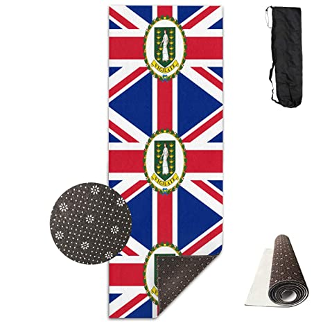 Amazon.com : Jinyimingpi Yoga Mat Flag of The British Virgin ...