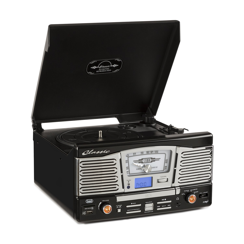 Trevi TT 1065 Tocadiscos estéreo con altavoces (USB, SD, MP3 ...