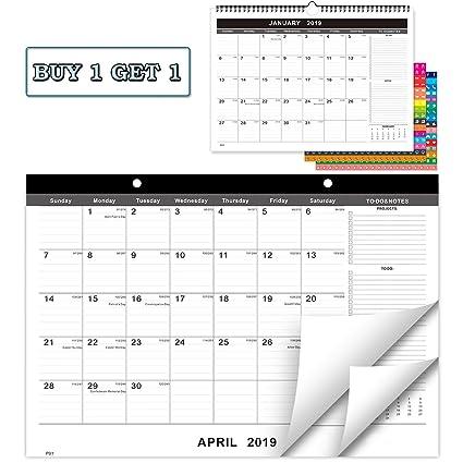 Free 2020 Wall Calendar By Mail Amazon.: 2019   2020 Desk Calendar+Wall Calendar, 17