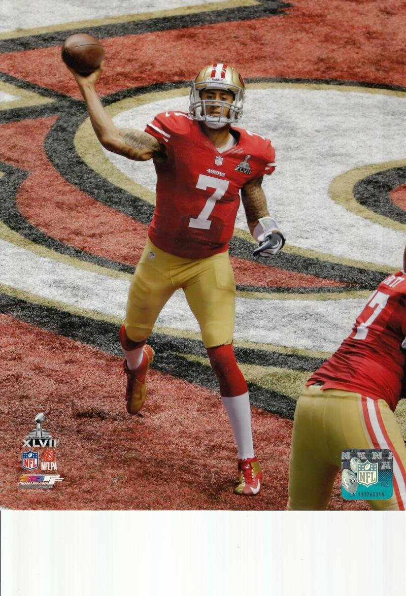 more photos 7b9b4 71da2 Colin Kaepernick San Francisco 49ers unsigned 8x10 photo ...