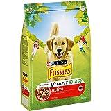 Friskies Active Alimento para Perros, Seco, Rico en Carnes - 3 Kg