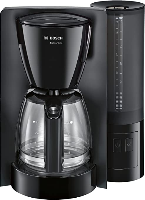 Bosch Comfort Line TKA6A043 - Cafetera de filtro / goteo, 1200 W, color negro: Amazon.es: Hogar