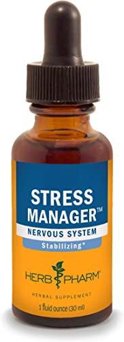 Herb Pharm Stress Manager Liquid Herbal Formula with Rhodiola and Holy Basil Liquid Extracts – 1 Ounce