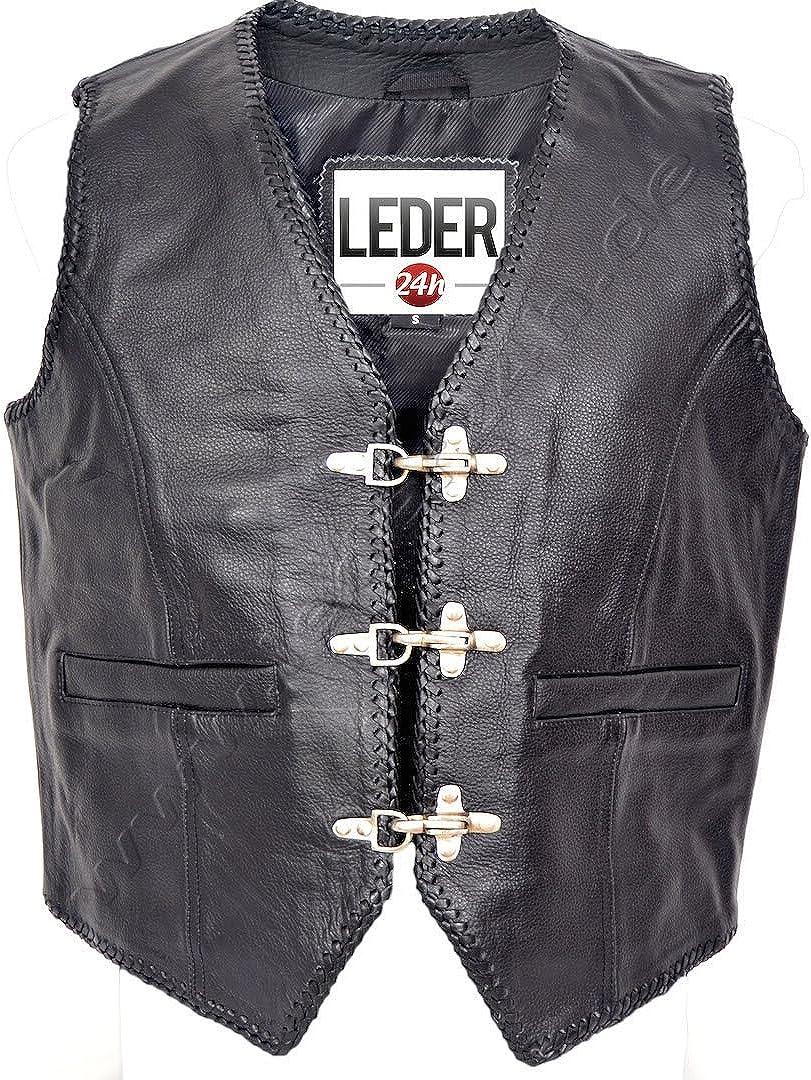 LEDER24H Hochwertige Lederkutte mit Innenleder 1050-DL