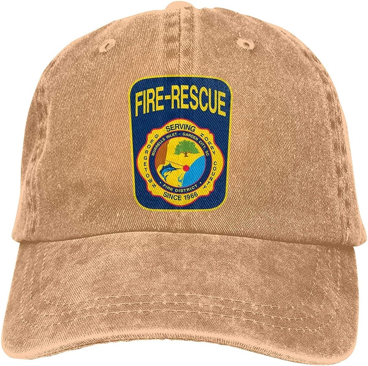 GAOFEIhat Murrells Inlet Garden City Fire District Unisex Adult Denim Hats Cowboy Hat Dad Hat Driver Cap