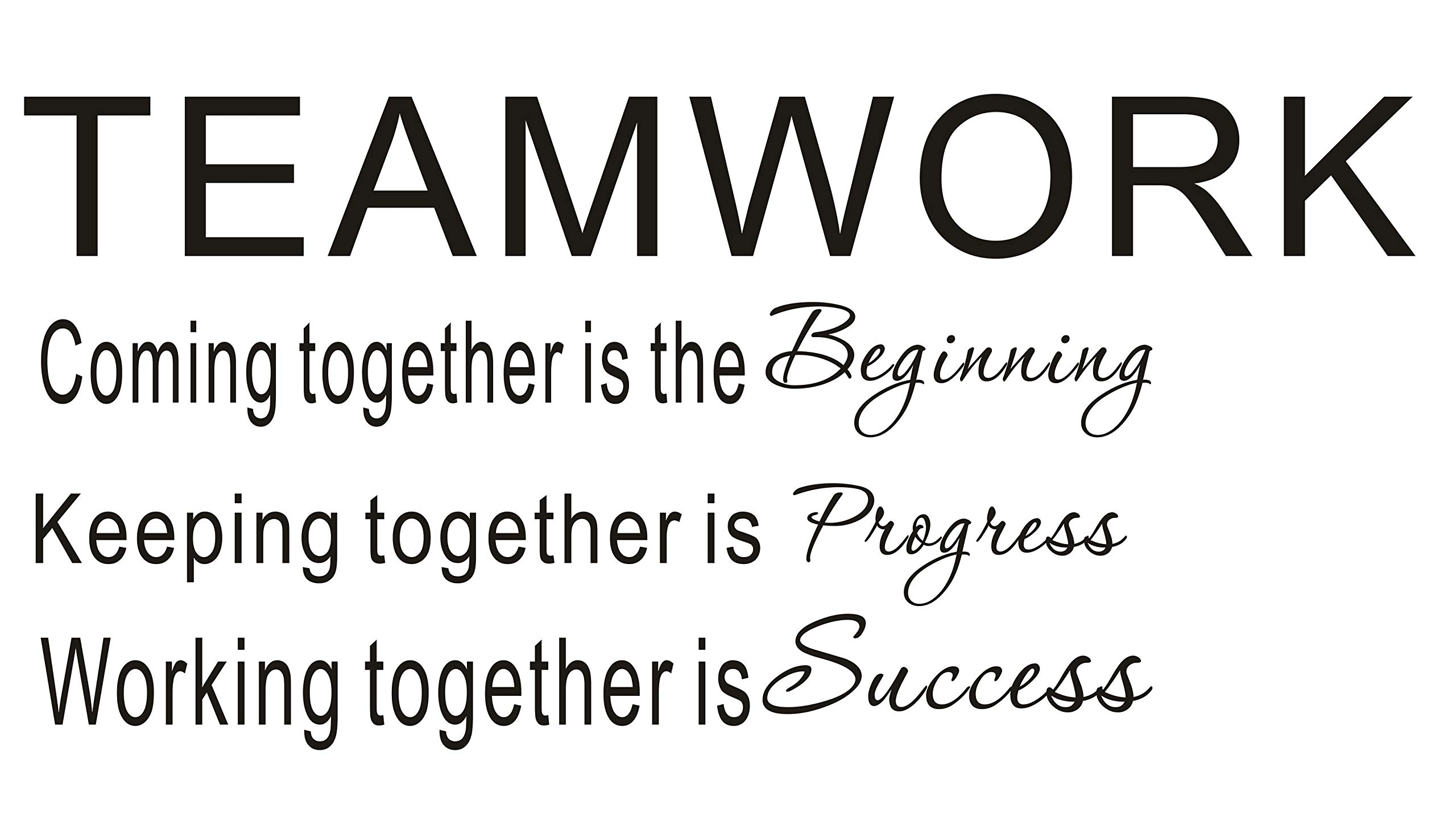 LUCKKYY Large Teamwork Motivation Inspirationa Creativity Office Wall Art Decals Quotes for Office Wall Office Family Office Inspirational Wall Decals Wall Sticker(Large-Teamwork) by LUCKKYY