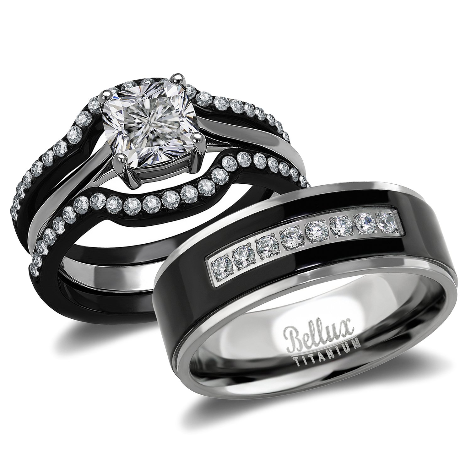 Amazon His and Hers Wedding Ring Sets Couples Matching Rings