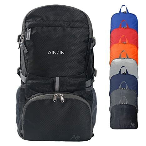 6c9b494b1114 AINZIN 35L Lightweight Packable Durable Water Resistant Travel Hiking  Foldable Backpack - Daypack Handy Foldable Camping Outdoor Cycling Backpack
