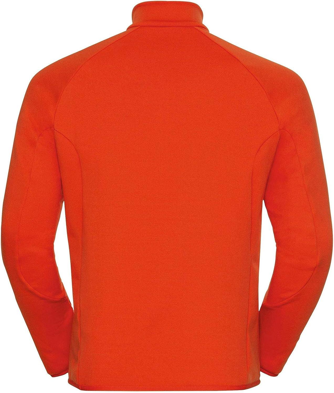 Odlo Herren Midlayer 1/2 Zip Carve Ceramiwarm Pullover Orange.com