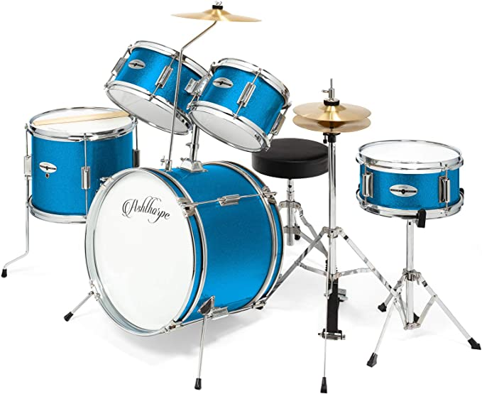 This complete starter drum set is perfect for children ages 3-12 years old, providing everything needed for beginners