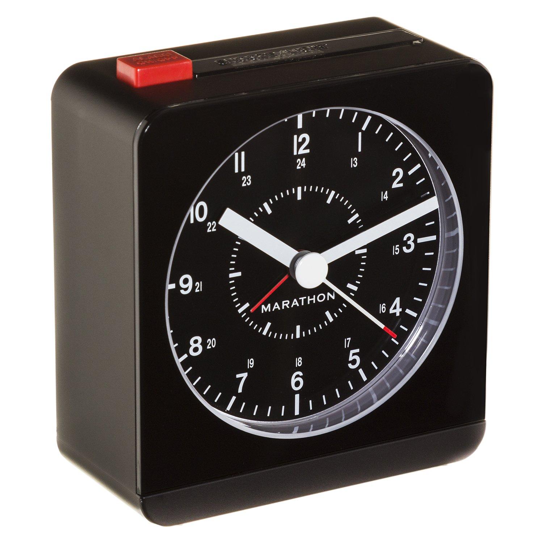 marathon cl030053bk analog desk alarm clock with auto night light ebay. Black Bedroom Furniture Sets. Home Design Ideas