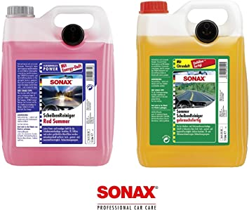 Great Value Set 5 L Sonax Summer Citrus 260500 5 L Summer Screen Wash Red Summer 266500 Ready To Use Auto