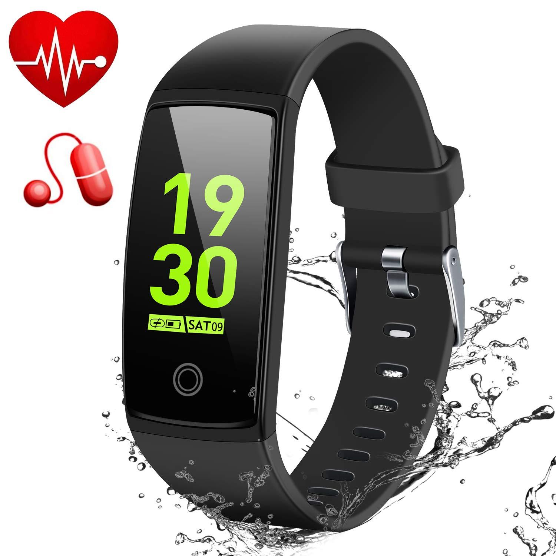 MSDJK Fitness Tracker,Orologio Fitness Activity Tracker braccialetto intelligente 0.96 HD Display a colori .IP 67 Smartwatch,Pedometro,Cardiofrequenzimetro,misuratore della pressione sanguigna, rilevatore di sonno per uomini e donne compatibile IOS e Andro