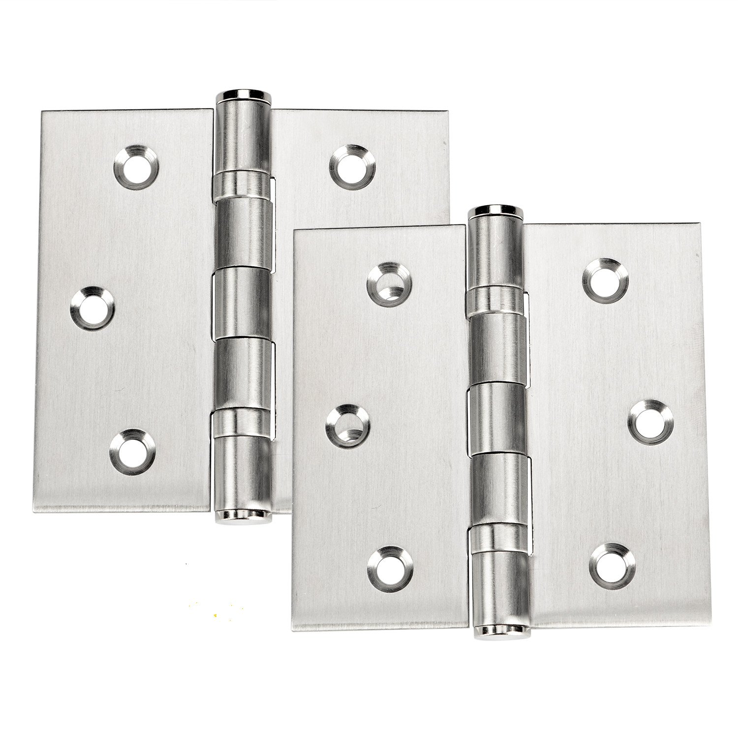Stainless Steel Hinges, 2-Pack 3.5'' X 3.5'' Door Hinge With Brushed Nickel