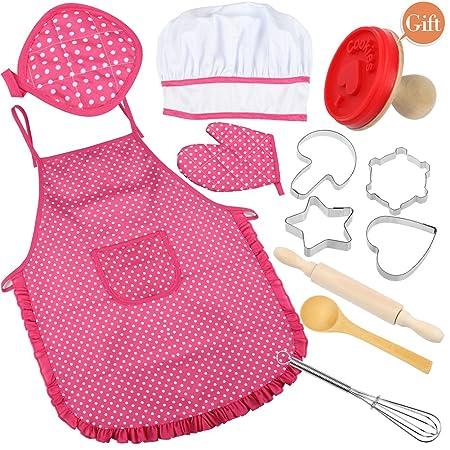 VAMEI Chef Baby Traje Delantal de Cocina Set con niños Accesorios ...