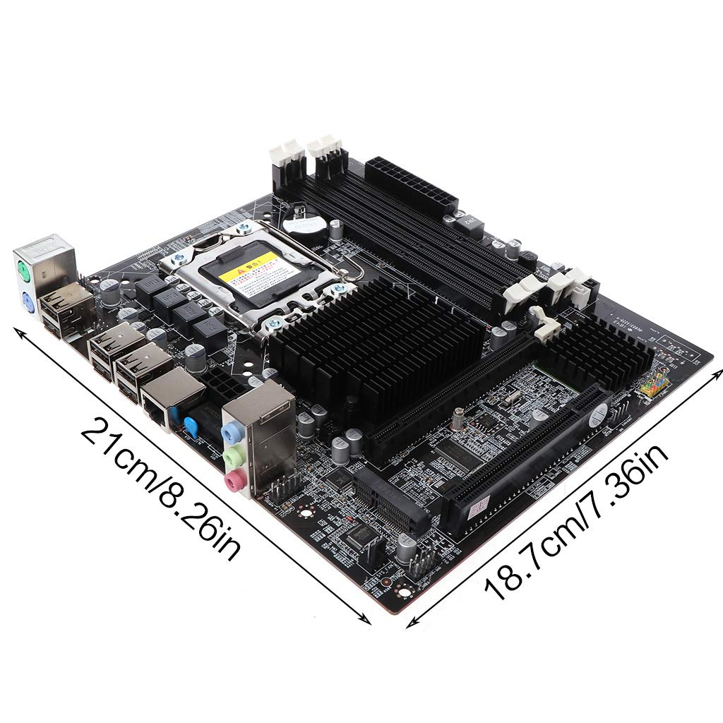 Mikiya X58 Desktop Motherboard LGA 1366 DDR3 Pin scheda madre per L//E5520 X5650 RECC